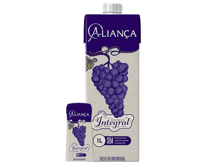 SUCO DE UVA INTEGRAL CX 1L  ALIANCA