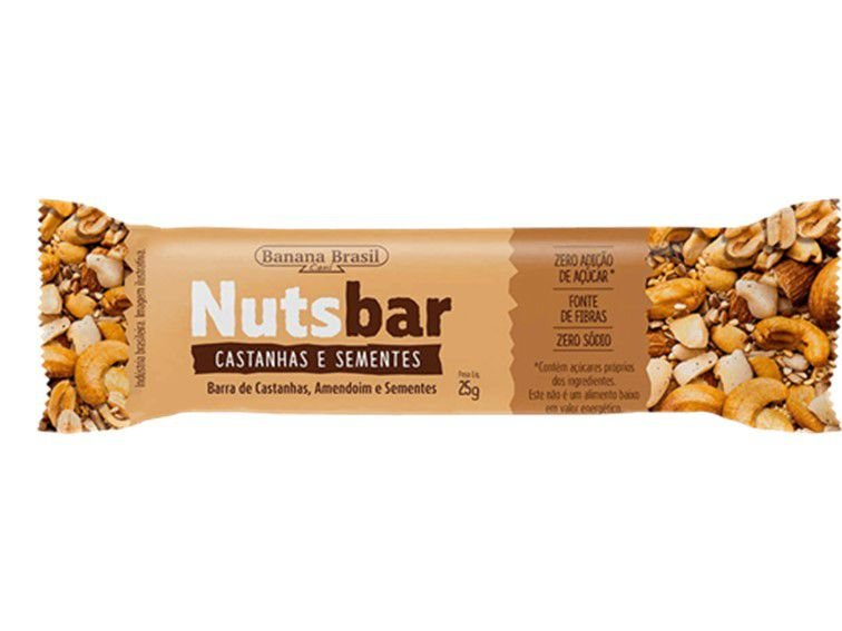 NUTS BAR CASTANHA/SEMENTES 25G