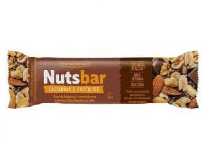 NUTS BAR CASTANHA/CHOCOLATE 25G