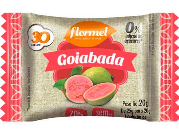 FLORMEL GOIABADA ZERO 20 GRAMAS