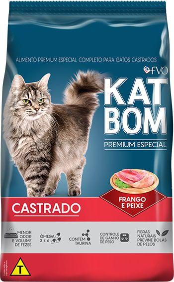 Ração Katbom Premium Especial Gato Castrado Sem Corantes