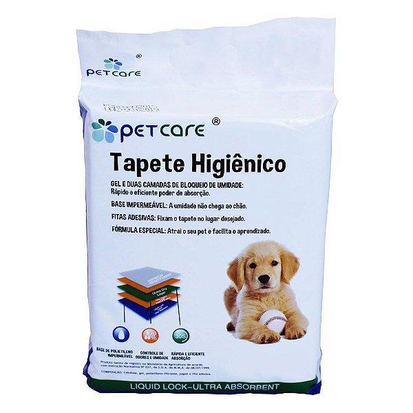 Tapete Higiênico Pet Care Pads 80X58cm Com 30 Unidades