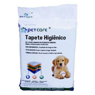 Tapete Higiênico Pet Care Pads 60X58cm Com 50 Unidades