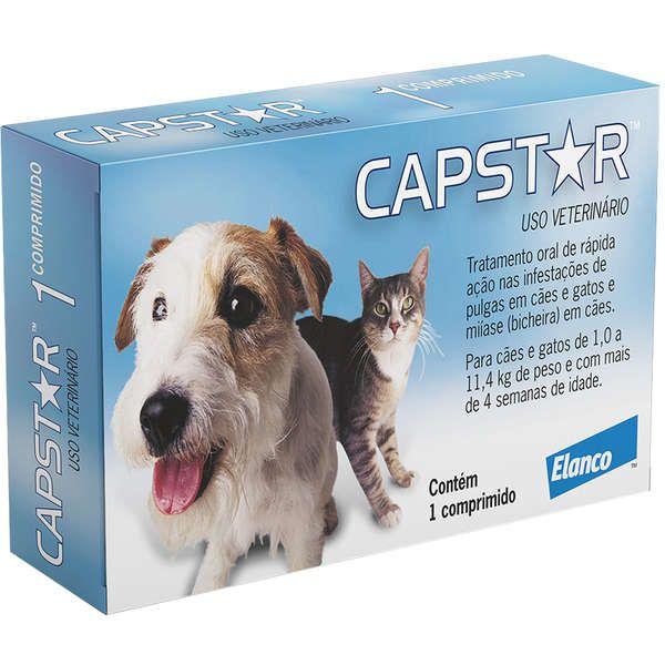 Antipulgas Elanco Capstar 11 mg para Cães e Gatos até 11,4 Kg