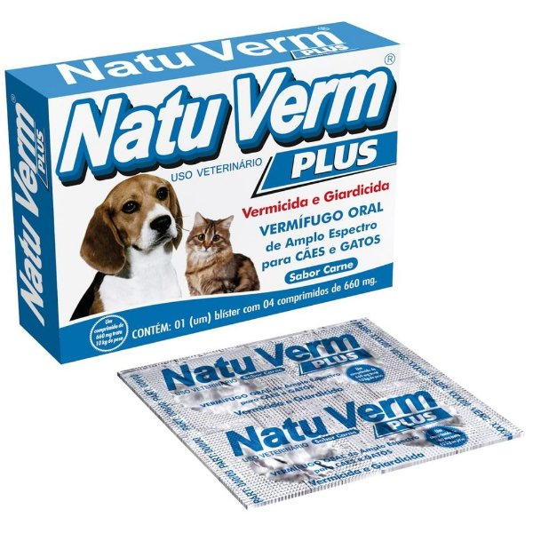 Natu Verm Plus Vermífugo Sabor Carne 660mg - VetBras