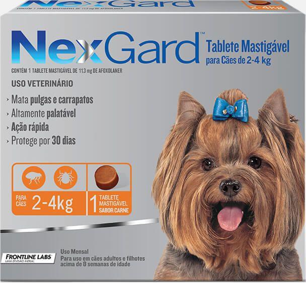 Antipulgas e Carrapatos NexGard 2 a 4Kg