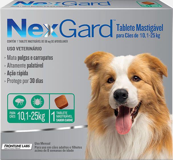 Antipulgas e Carrapatos NexGard  10,1Kg  25Kg