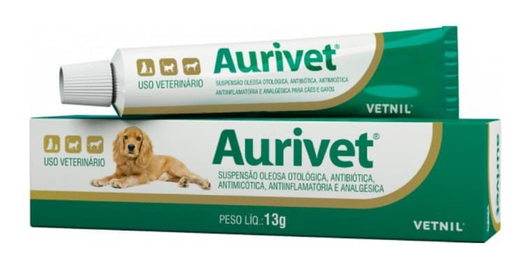 Suspensão Oleosa Otológica Antibiótica Vetnil Aurivet 13 G