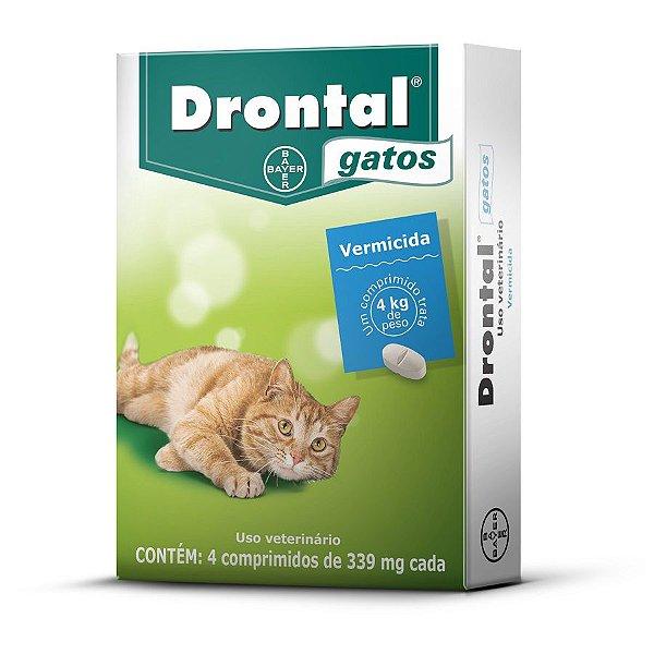 Vermífugo Drontal Bayer Gatos Blister com 4 comprimidos
