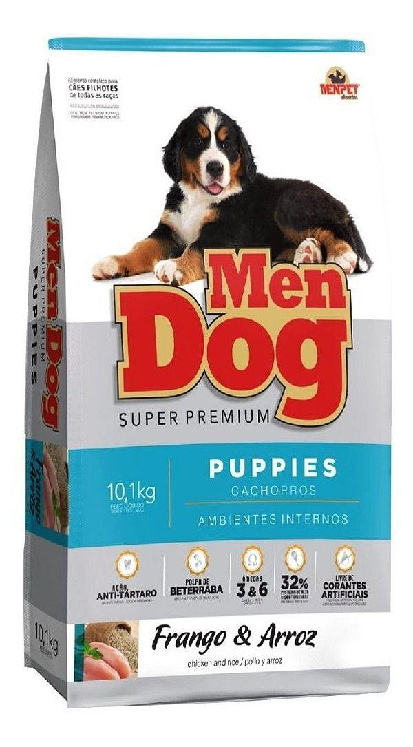 Ração Super Premium Mendog Filhotes Frango e Arroz  Ambientes Internos 10,1kg