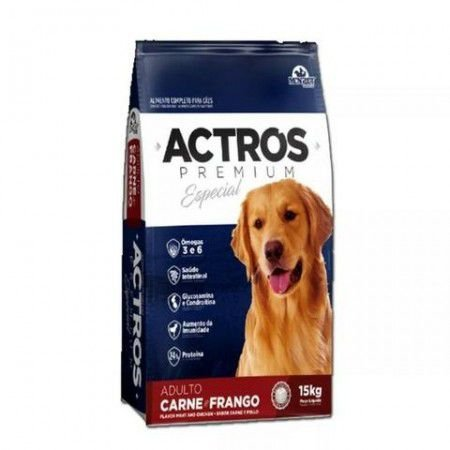 Ração Premium Especial Actros Carne e Frango Adulto 15kg