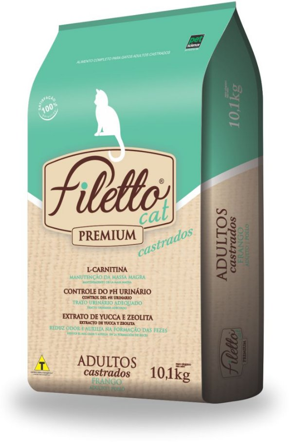 RaçãoFiletto Cat Castrados Frango 10,1kg