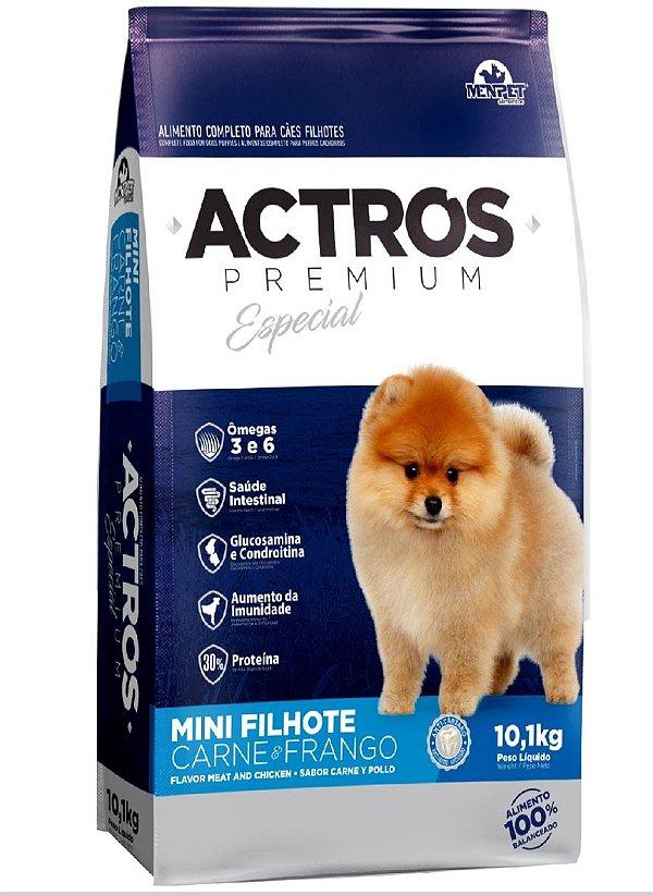 Ração Premium Especial Actros Filhotes Mini Carne e Frango