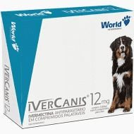 Ivercanis 12mg 4 comprimidos World Ivermectina Cães