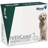 Ivercanis 3mg 4 comprimidos World Ivermectina Cães