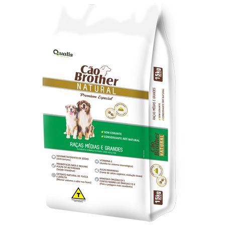 Ração Cão Brother Natural Raças Médias e Grandes 15kg