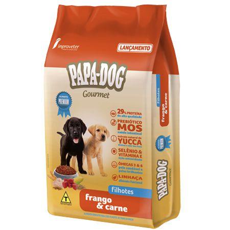 Ração Papa Dog Gourmet Frango e Carne Filhotes