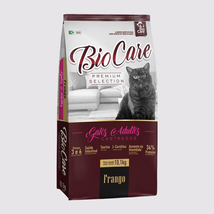 Ração BioCare Selection Gatos Castrados 10,1kg