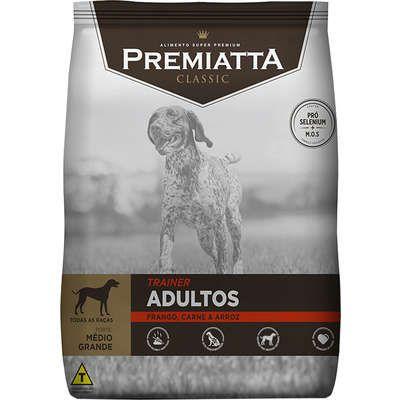 Ração Premiatta Classic Trainer Super Premium Adultos Médio 15kg