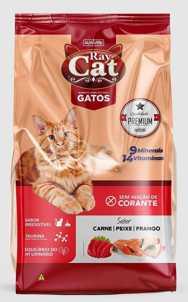 Ração Ray Cat Carne Peixe e Frango sem Corantes