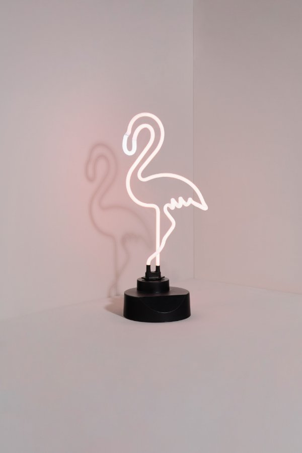 luminária neon flamingo