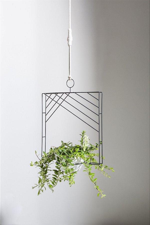 suporte para plantas quadrado
