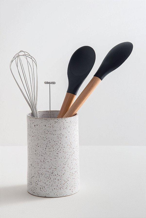 porta utensílios de cerâmica olíe