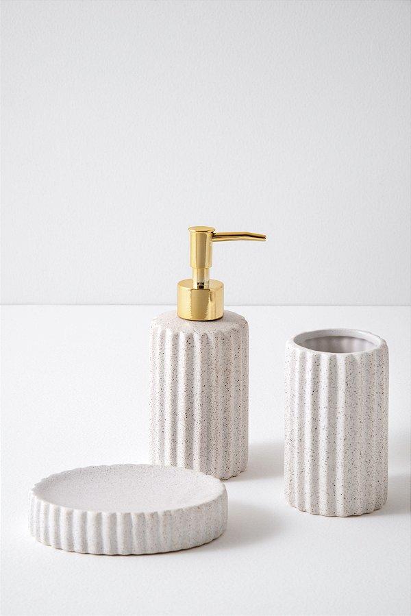 kit para banheiro bez em cerâmica