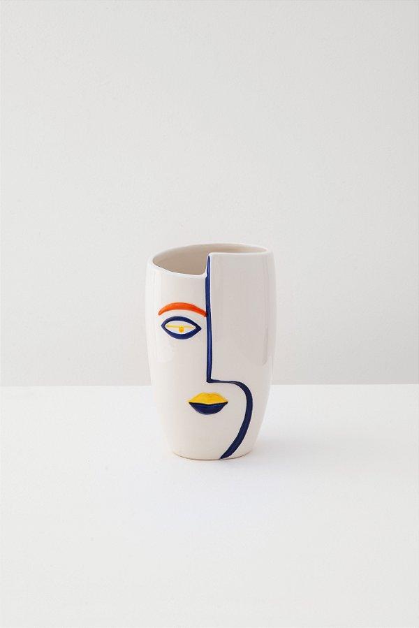 vaso em cerâmica face