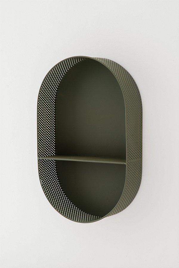 nicho em metal verde militar