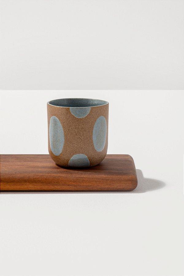 copo de chá de cerâmica blu pintadinho