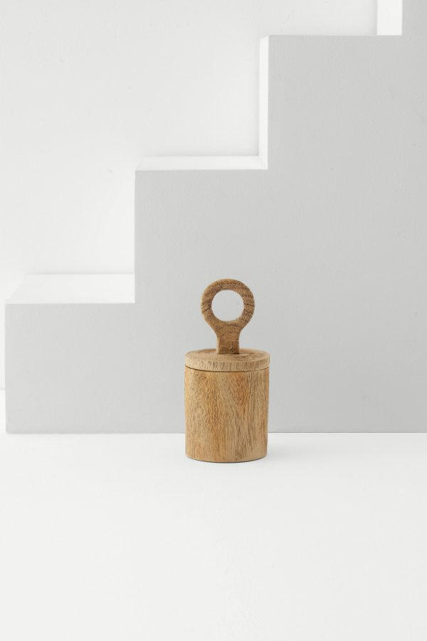 pote decorativo wood P