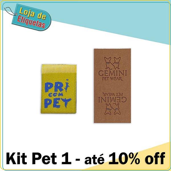 Kit Pet 1 (Etiqueta bandeirinha + Etiqueta Sintética)