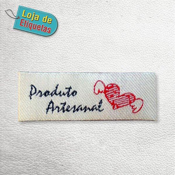 "Etiqueta Bordada ""Produto Artesanal"" (100 peças)"
