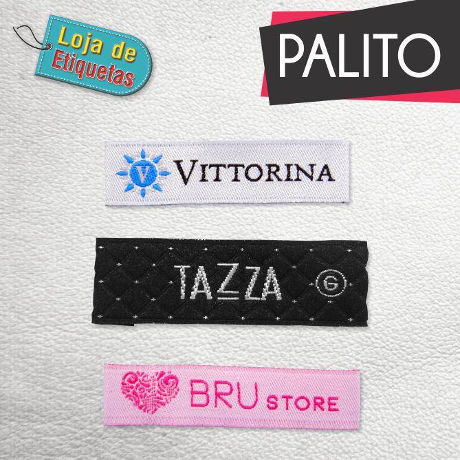 Etiqueta bordada Palito - Alta Definição (500 peças)