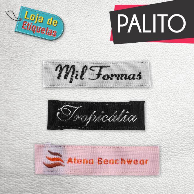 a Etiqueta bordada Palito - Tafetá (500 peças)