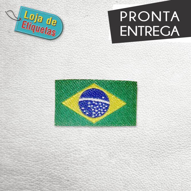 Patch bandeira do Brasil - Termocolante (100 peças)
