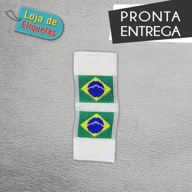 Etiqueta Bordada Band Brasil - 100 peças.