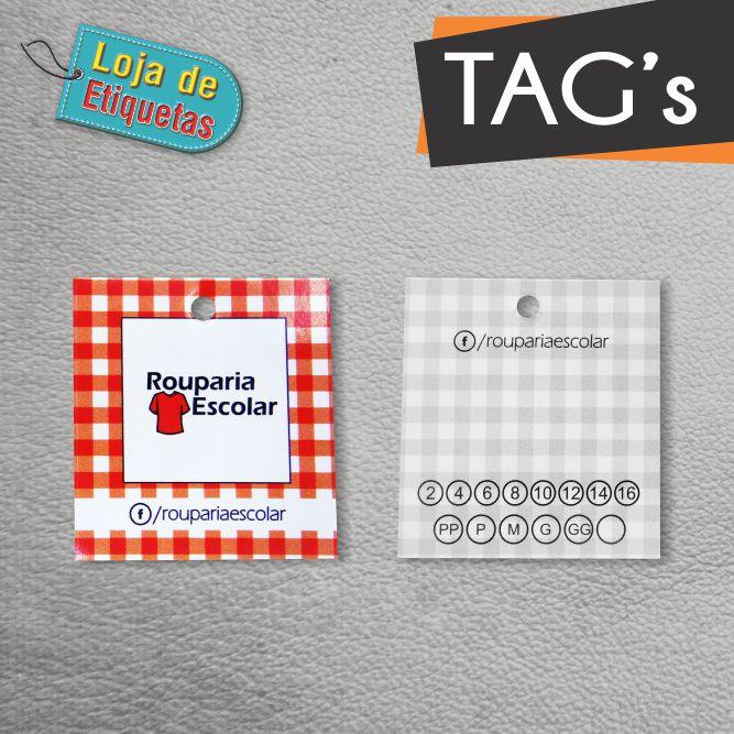 Tag's Personalizados 4/1 (2.000 peças) + 44x48mm