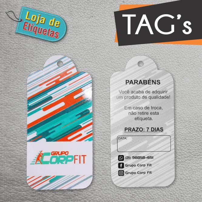 Tag's Personalizados 4/1 (1.000 peças) + 48x88mm (Recortado)