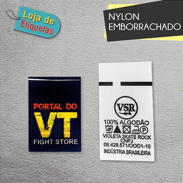 Etiqueta de Nylon Emborrachado