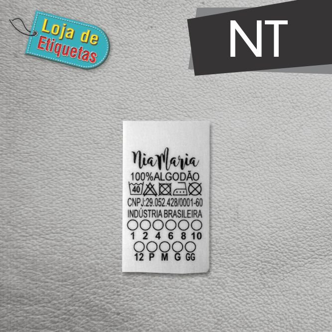 Etiqueta de Composição de NT (Não-tecido) - 1.000 peças
