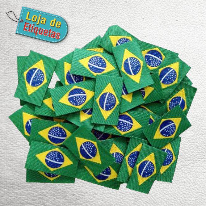 PATCH BRASIL TERMOCOLANTE - 1 PACOTE - (100 PEÇAS)