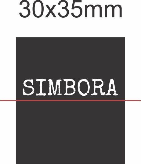 SIMBORA - Etiqueta Bordada Band 30x35mm