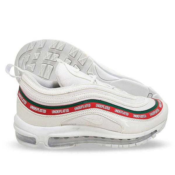 Tênis Masculino Nike Air Max 97 Undefeated Branco e Vermelho 99d48abbd1a5b