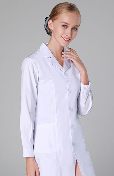 Jaleco feminino manga longa tecido gabardine