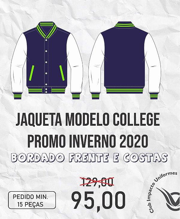 Jaqueta modelo college em moletom Promo 2020