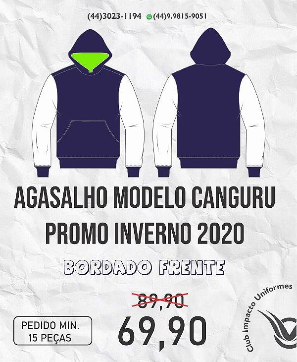 Agasalho modelo canguru em moletom Promo 2020