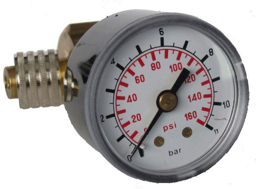 Manômetro teste pressão ar Alta Rotação [2 Furos]