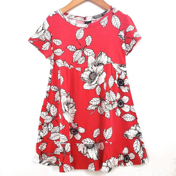 Vestido Floral Vermelho